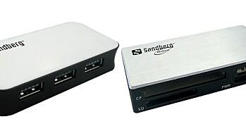 Sandberg USB 3.0 Hub 4 ports og USB 3.0 Multi Card Reader