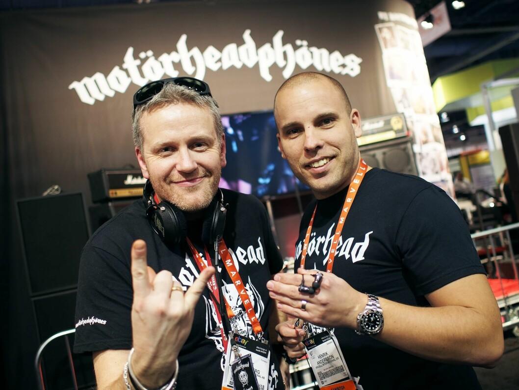 Ulf Sandberg (t.v) og Henrik Andersson i Krusell, selger mobiltilbehør og mer i over 70 land i verden.