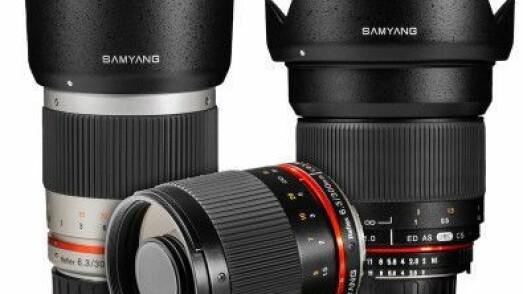 Samyang 16 mm og 300 mm