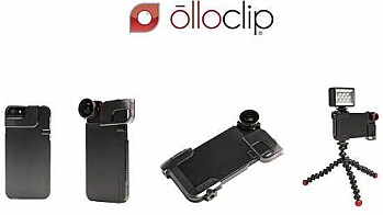 Olloclip Quick-Flip  case og Pro -Photo Adapter.