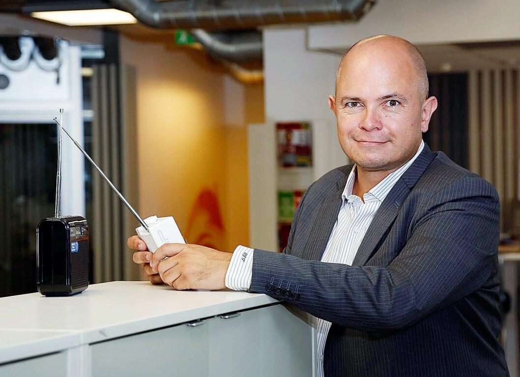 Ole Jørgen Torvmark, daglig leder i Digitalradio Norge, er fornøyd med at flere hører radio digitalt.