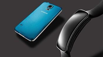 Samsung Galaxy S5 og Gear Fit