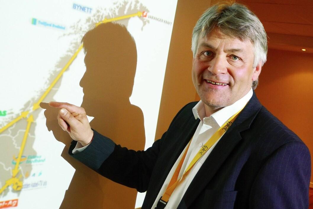 Gunnar Evensen, administrerende direktør i Get og TDC Norge, får nye kollegaer fra MTG. Foto: Erik Andersen