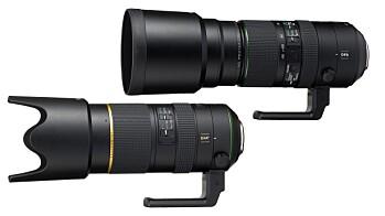 HD Pentax D FA 70-200mm F/2,8 og 150-450mm F4,5–5,6