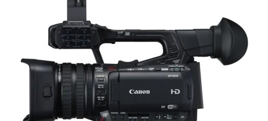 Canon XF205 med programvareoppdatering