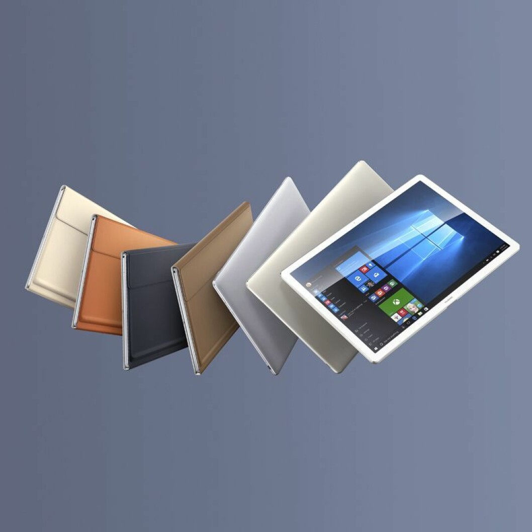 Huawei MateBook kommer i fargene sort/grå og hvit/gull. Prisen blir fra rundt 8.000 kroner.