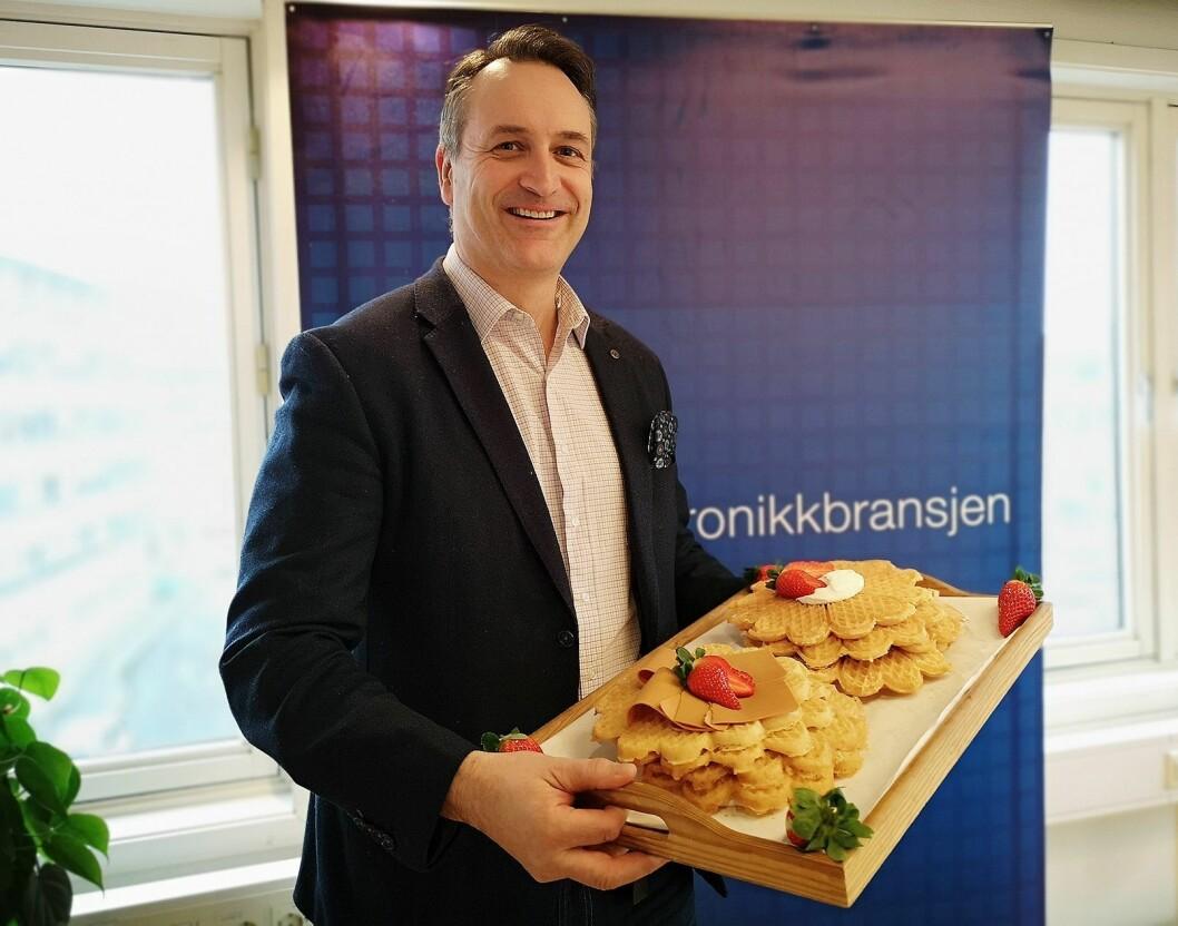 Jan Røsholm, administrerende direktør i Stiftelsen Elektronikkbransjen. Foto: Marte Ottemo.