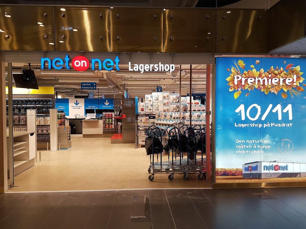 NetOnNet Lagershop åpnet i kjøpesenteret Kvadrat i Sandnes 10. november. Foto: NetOnNet