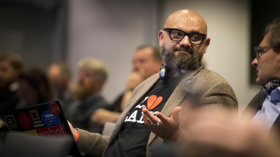 Utviklingssjef Matthieu Beauval ved den franske allmennkringkasteren, Radio France. Foto: Vilde Erikstad/Digitalradio Norge.