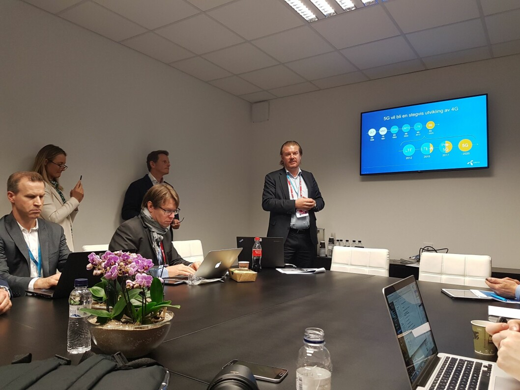 Teknologidirektør i Telenor Norge, Magnus Zetterberg, lover at selskapet skal bli først med 5G i Norge. Foto: Marte Ottemo.