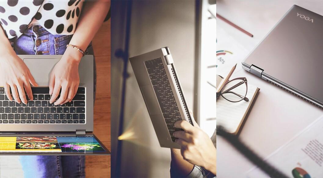 Lenovo lanserer to nye fleksible PCer under årets MWC. Foto: Lenovo