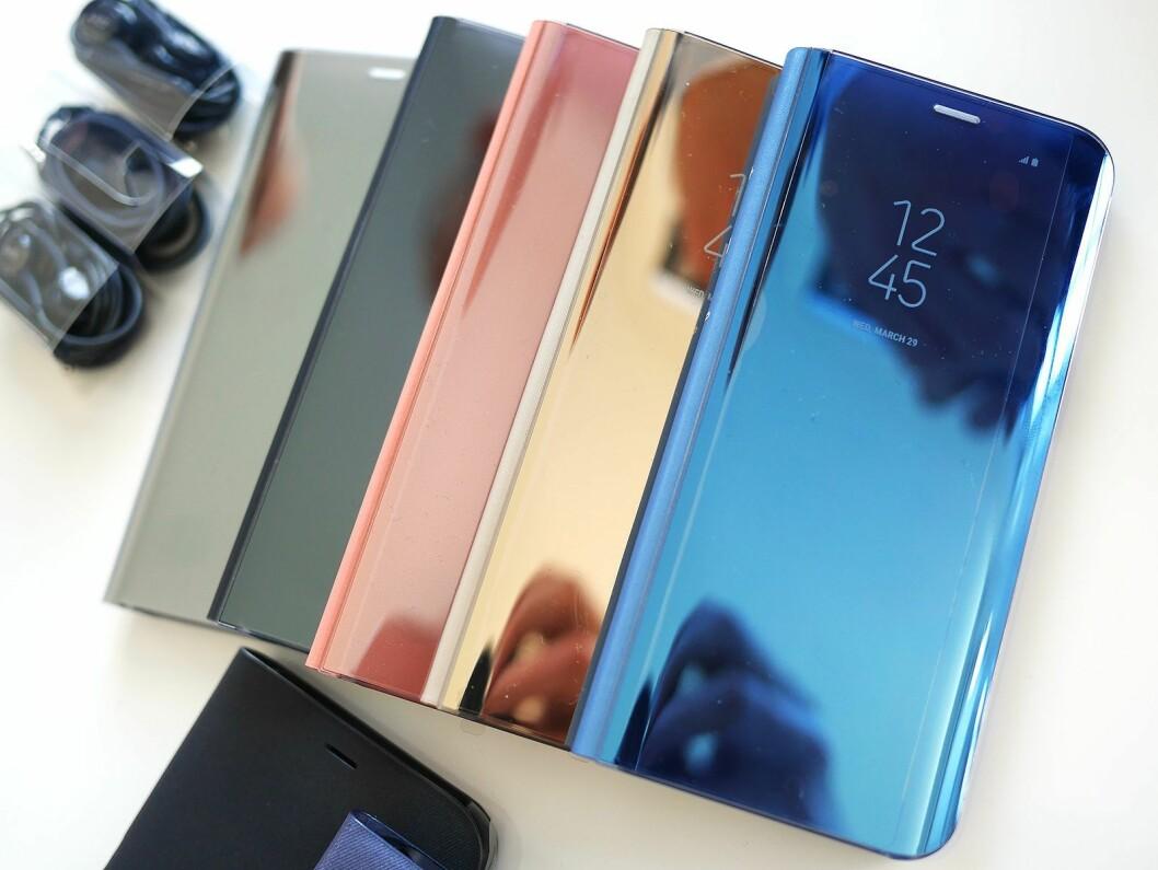 Til Samsung Galaxy S8 og S8+ kommer en rekke tilbehør, som disse dekslene.