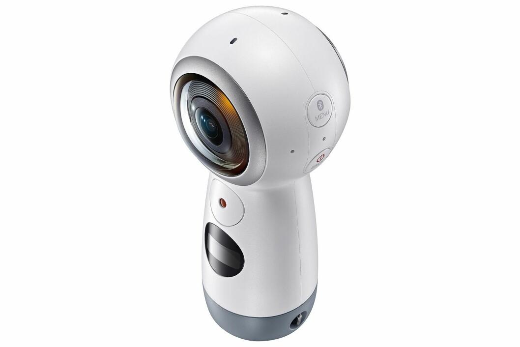 Den nye utgaven av Samsungs Gear 360-kamera.