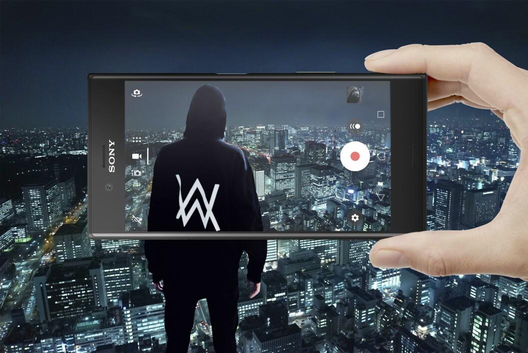 Sony samarbeider med Alan Walker på slippet av Xperia XZs. Foto: Sony Mobile