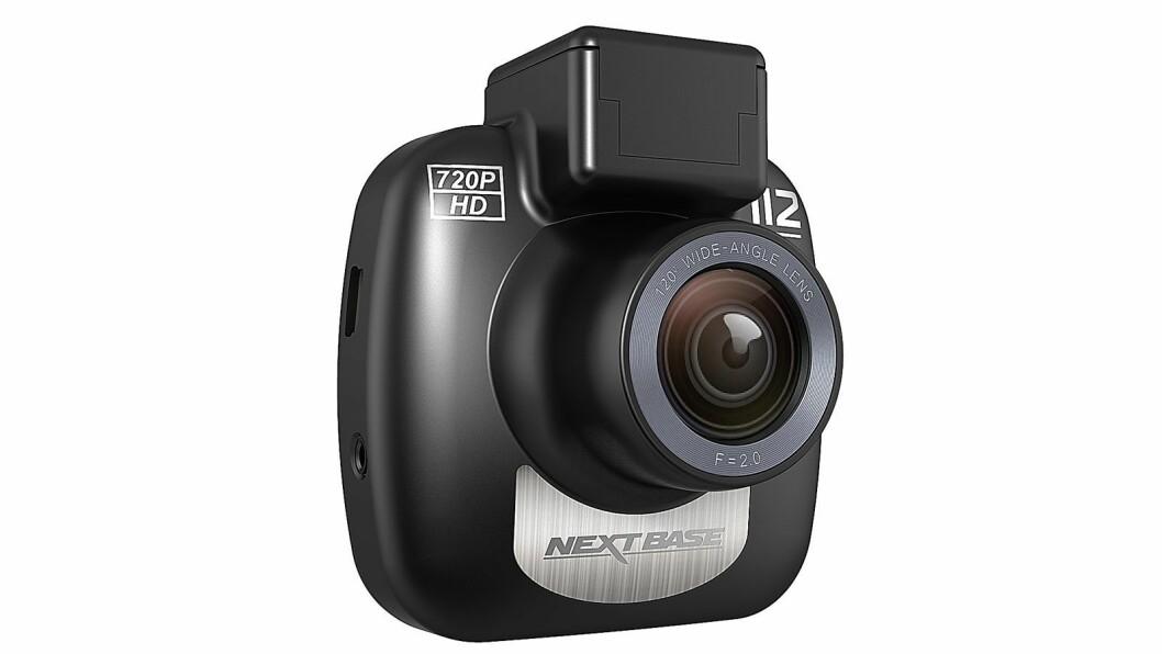 NBDVR112 er Nextbases enkleste modell, med magnetfeste for enkel montering. To-tommers skjerm, 120-graders objektiv og opptak i 720p. Pris: 1.000,-.