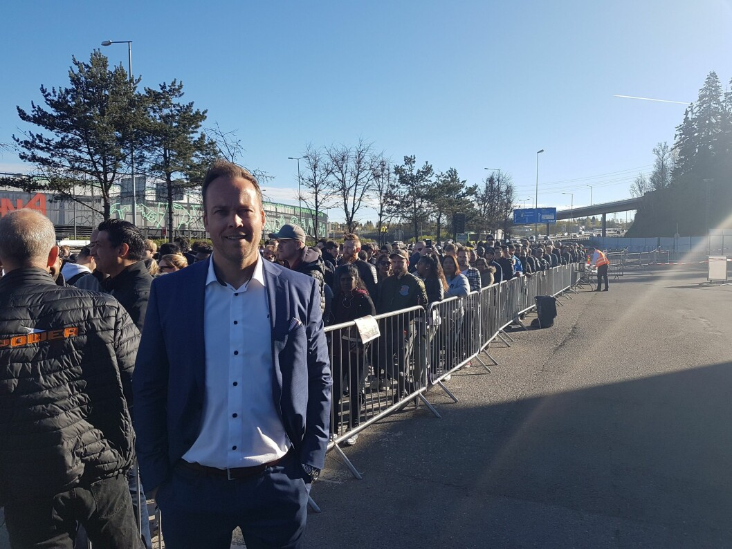 Power Norge-sjef Anders Nilsen kunne glede seg over godt besøk. Foto: Marte Ottemo.