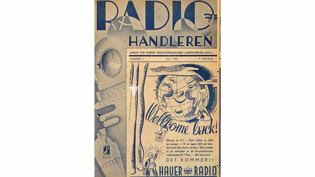 Forsiden på Radiohandleren nr. 1/1945.
