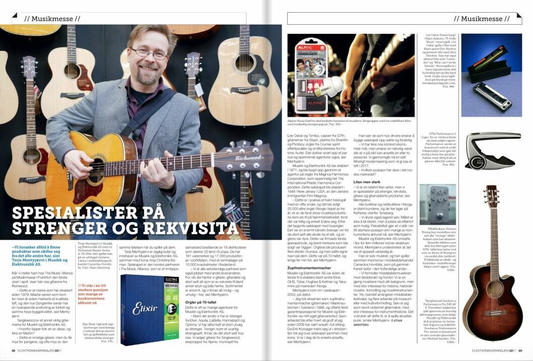 Les artikkelen om Musikk og Elektronikk i fagbladet Elektronikkbransjen nr. 3/2017.