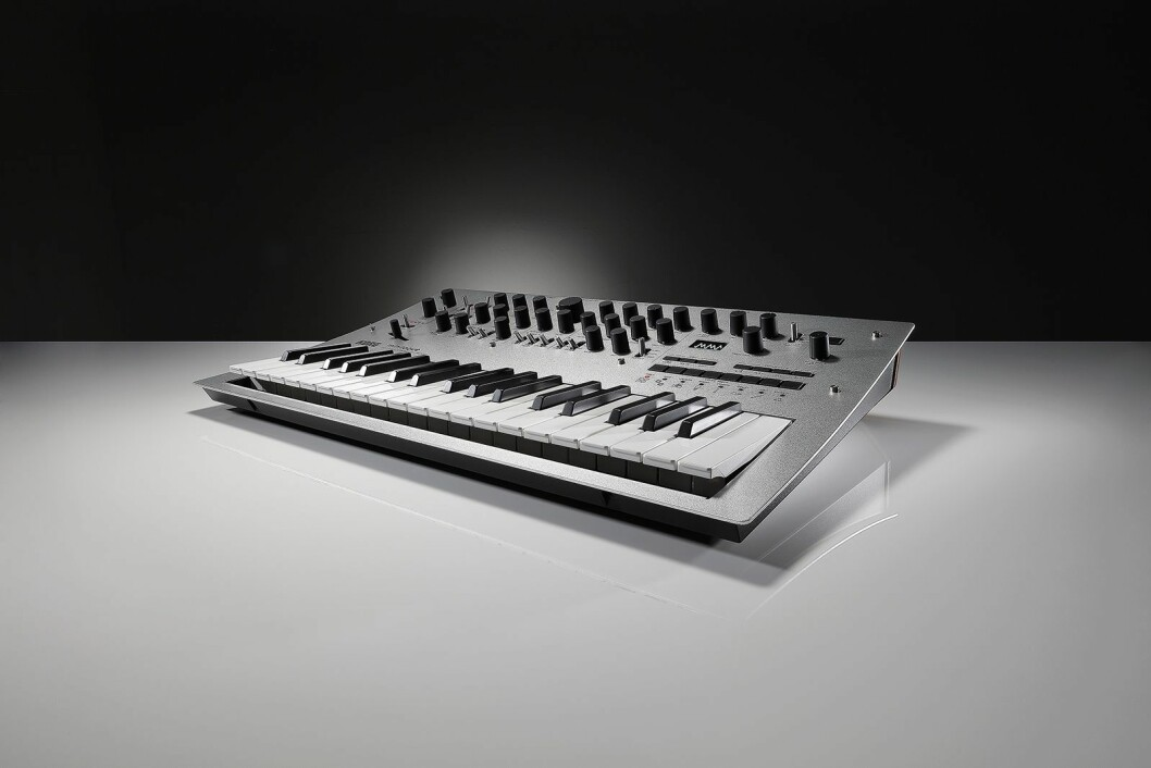Korg Minilogue er en firestemmers analog synthesizer med innebygd sequencer for moderne musikk - med retro-følelse. Pris: 5.600,-.