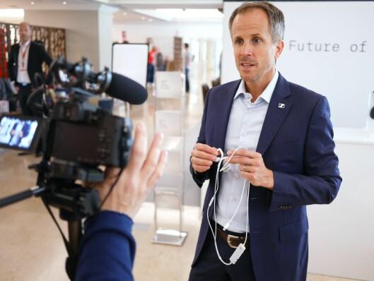 Andreas Sennheiser møtte på Berlin-messen IFAs globale pressemøte i Portugal 300 pressefolk fra hele verden.