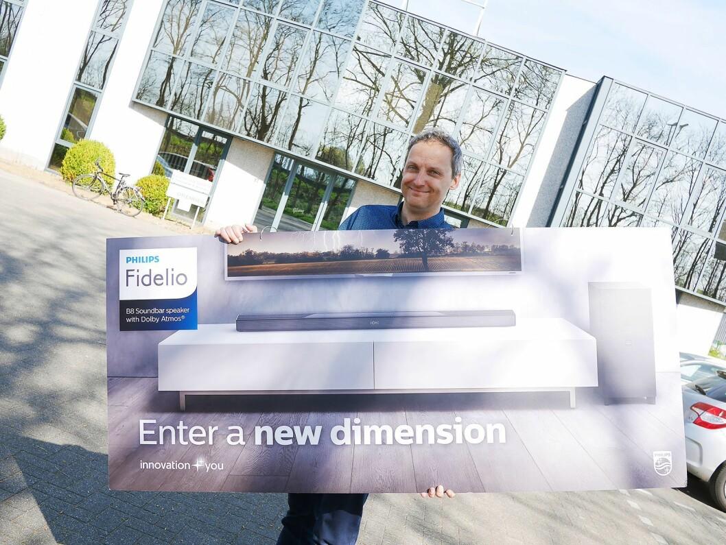Philip Loubele leder Gibson Innovations forsknings- og utviklingsavdeling i Leuven i Belgia, som har ansvaret for produktnyhetene fra Philips og Onkyo. Foto: Stian Sønsteng