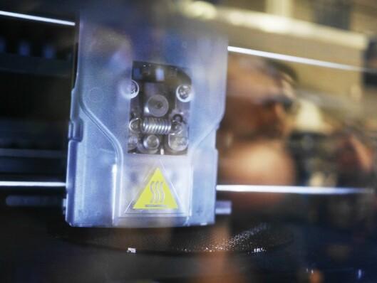 En 3D-skriver har gjort produksjonen av prototyper raskere og enklere.