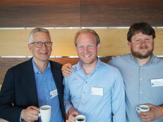 Elkjøp Nordic AS stilte mannsterkt opp. Fra venstre Lorentz Jacobsen, André Haug Omdahl og Johan Jaksland.