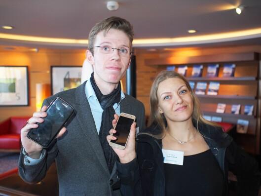 Håvard Hamran og Thale A. Feiring driver sammen ekspressverkstedet Techfix AS, hvor mobiltelefon er et av hovedproduktene.