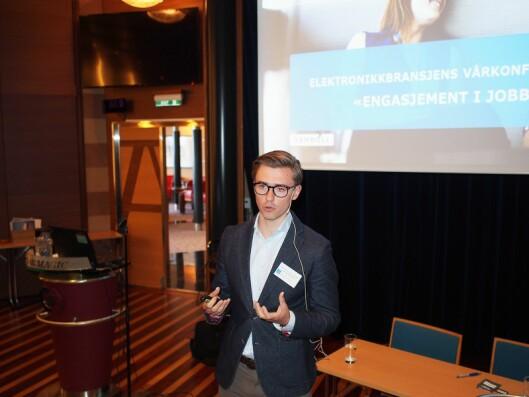 Vetle Høivang Jensen i Rambøll Management Consulting engasjerte salen med sitt innlegg om engasjement.