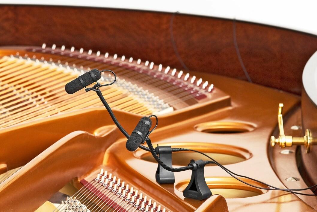 DPA d:vote instrumentmikrofoner festes direkte på instrumentet og skal tillate et høyt volum på scenen før man får problemer med feedback. Samme mikrofon kan benyttes på forskjellige instrumenter ved å bytte fester. Pris: 5.100,-.