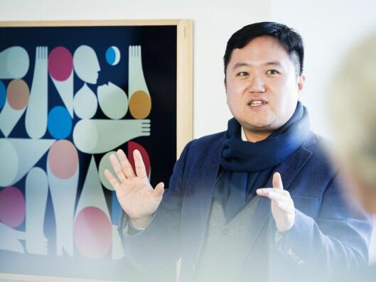 Wonki Kim er salgs- og markedsansvarlig i Samsung for The Frame i Europa. Foto: Samsung.