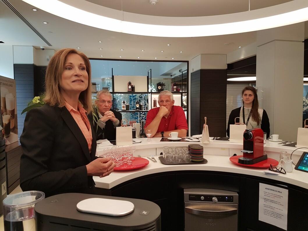 Den nye Nespresso Norge-sjefen er opptatt av at kaffen skal spille hovedrollen. Foto: Marte Ottemo
