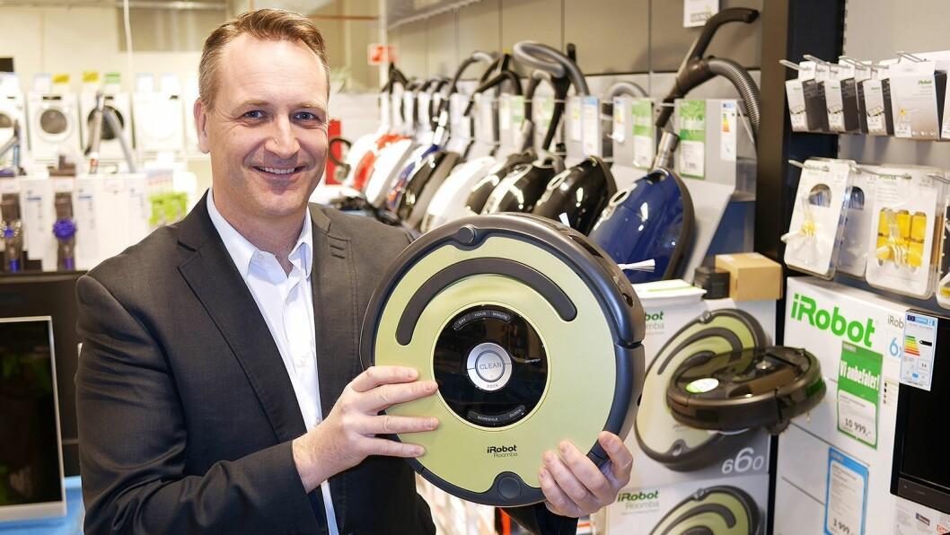 Kommer robotstøvsugerne til å ta en større andel av markedet? Det er noe administrerende direktør i Stiftelsen Elektronikkbransjen, Jan Røsholm, kan fortelle på pressemøtet den 24. august. Foto: Stian Sønsteng