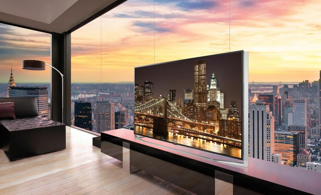 Nordmenn kjøper flere, større og dyrere TVer i første del av 2017. Foto: LG