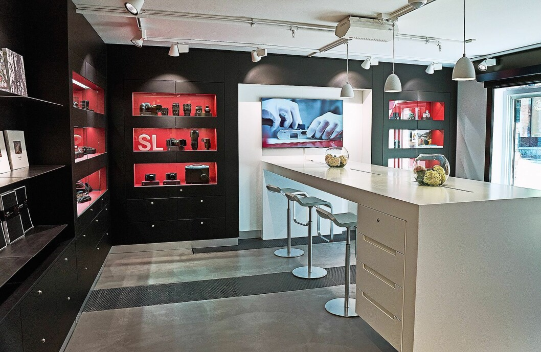 Leica Store Oslo er på 60 kvadratmeter. Foto: Øyvind Høgmoen