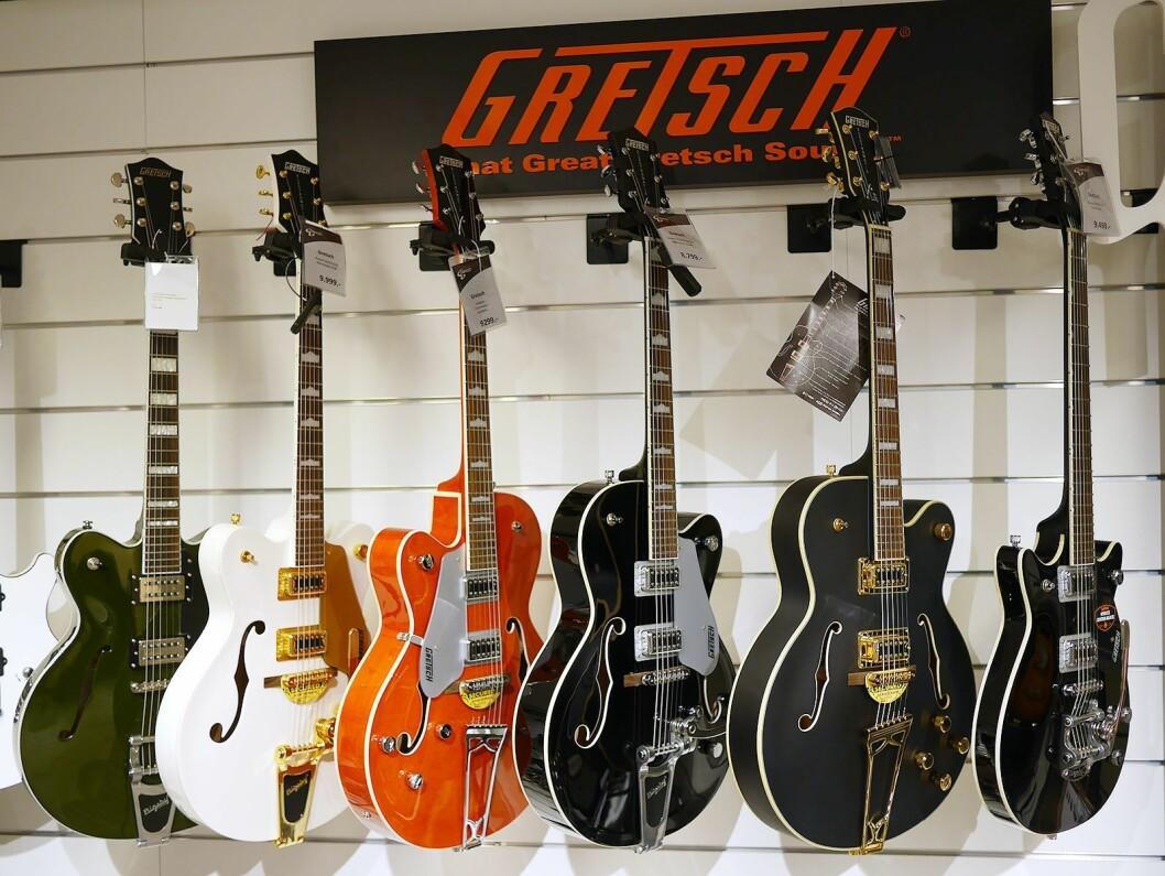 Gretsch' gitarer er produsert, markedsført og solgt på lisens av Fender..