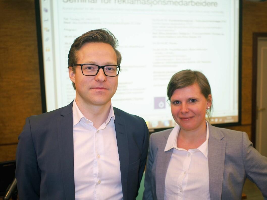 Kyrre Kielland fra advokatselskapet Ræder og Stine Sørensen fra Forbrukerrådet er faste foredragsholdere. Foto: Jan Røsholm