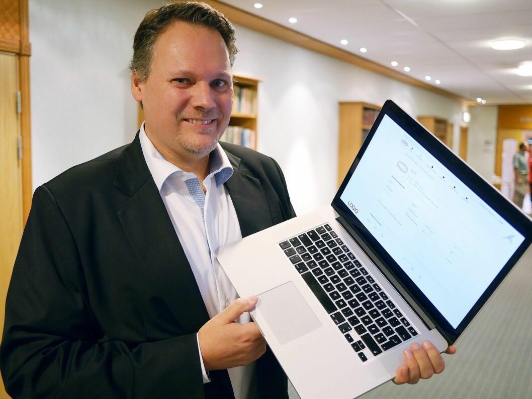Geir Isaksson i Logiq AS presenterte selskapets digitale varekatalog under musikkbransjehelgen. Foto: Stian Sønsteng