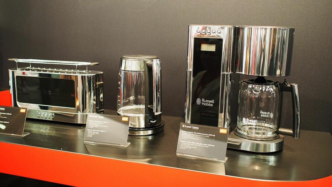 Elegance-serien til Russel & Hobbs består av kaffetrakter, brødrister og vannkoker.
