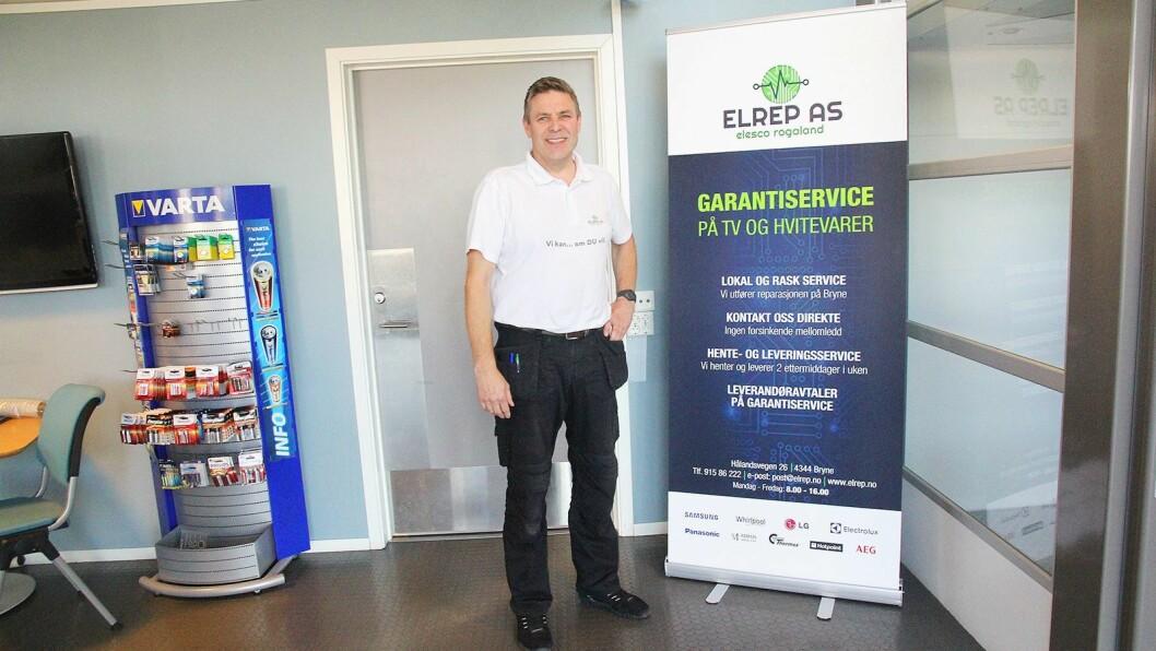 Etter over 30 år i bransjen, starter Nils Gunnar Rage opp Elrep AS og blir sin egen sjef. Foto: Trude Håland, Jærbladet