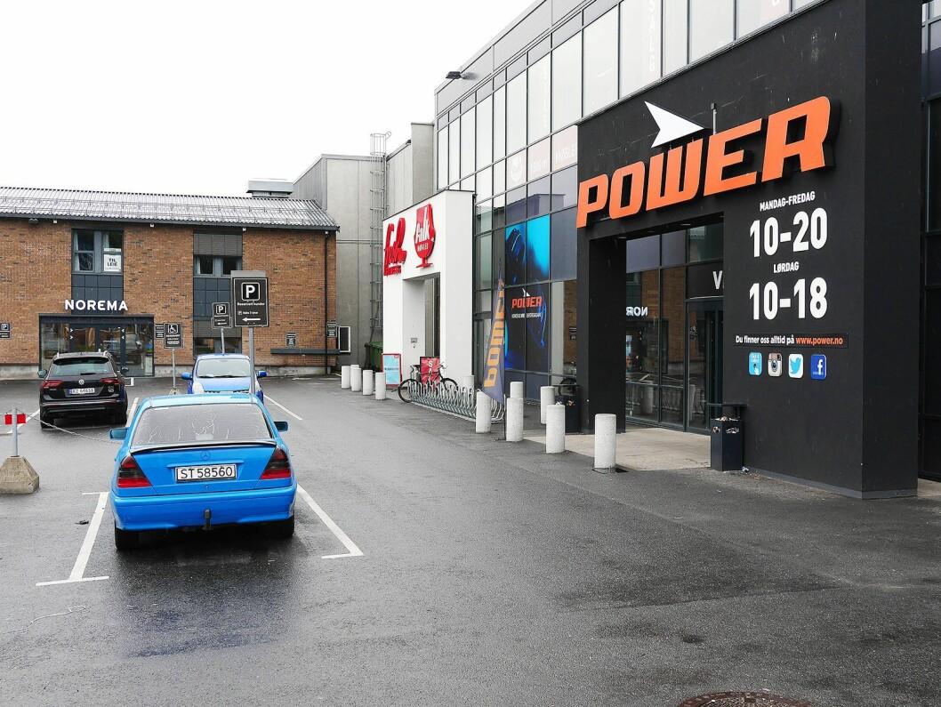 Power Drammen ligger på Bangeløkka, i umiddelbar nærhet til flere konkurrenter. Foto: Stian Sønsteng.