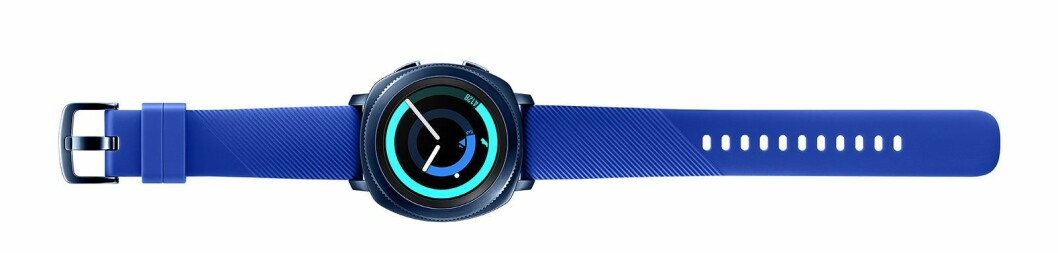 Samsung Gear Sport i blått.