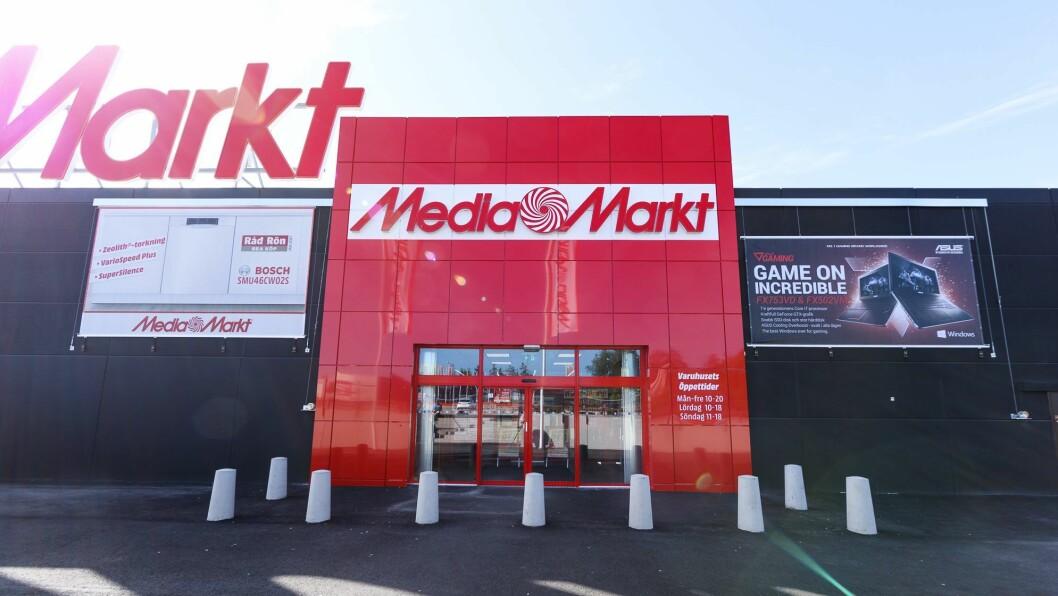 MediaMarkts ombygde varehus i Länna i Uppsala. Foto: MediaMarkt