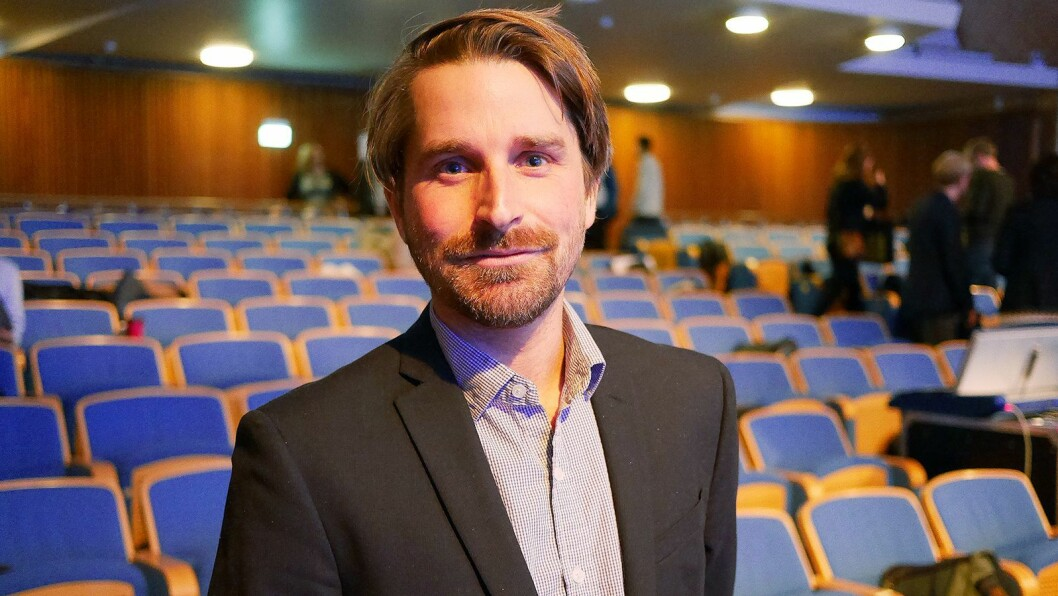 Finn Myrstad, fagdirektør i Forbrukerrådet, fotografert i NRKs Store Studio under høstmøtet i Digitalforum den 26. oktober. Foto: Stian Sønsteng