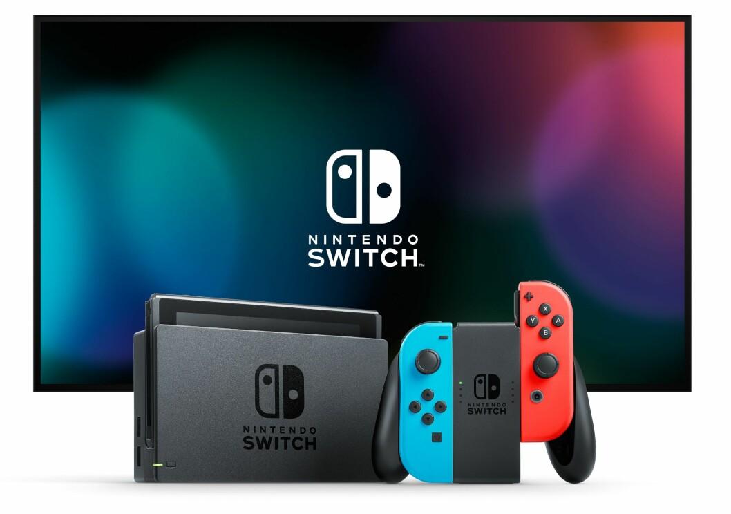 Nintendo Switch er kåret til «Årets spillprodukt 2017/2018». Foto: Nintendo.