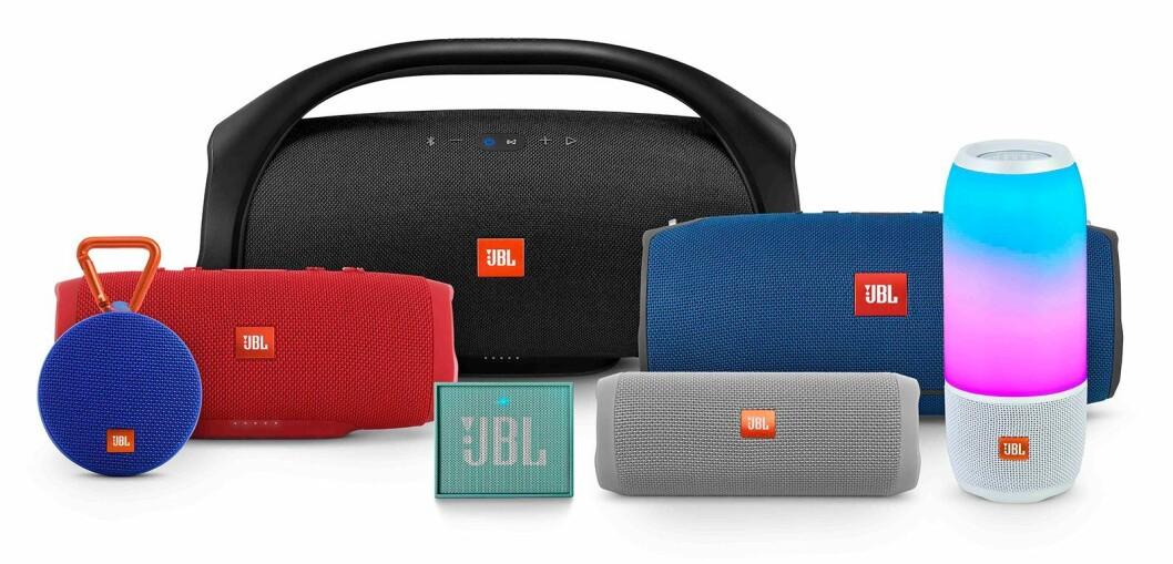 JBLs familie smartaudio-produkter. Foto: JBL.