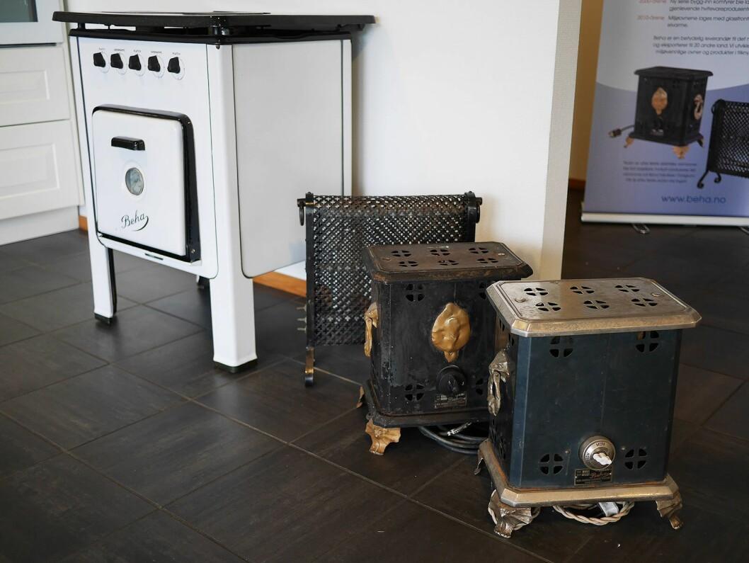 Berg-Hanssens Elektriske Verksted ble etablert i Porsgrunn i 1917. Det første produktet var sorte gulvovner, og komfyrene kom til på 20-tallet. Foto: Stian Sønsteng