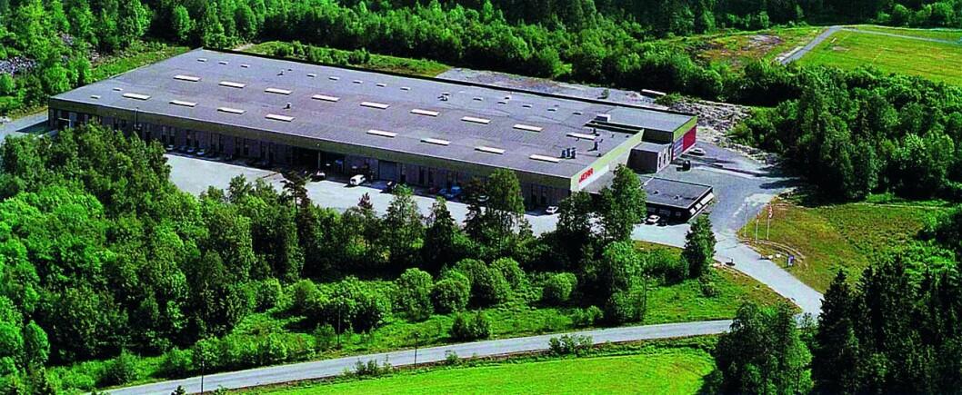 I 1974 flyttet Beha til eget bygg på Heistad utenfor Porsgrunn. Dette ble etter hvert utvidet, og er i dag på 12.000 kvadratmeter. Foto: Beha.