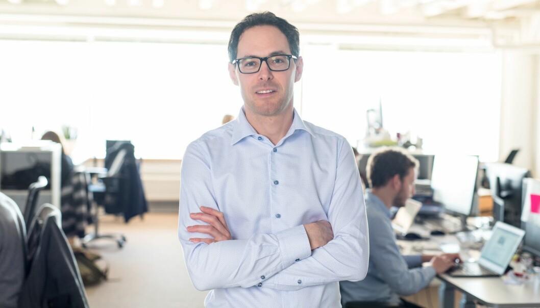 Kronikkforfatter Jérôme Franck-Sætervoll, administrerende direktør i RiksTV, tror 2018 kan bli et år med nye og spennende samspill i den utvidede TV-bransjen. Foto: RiksTV