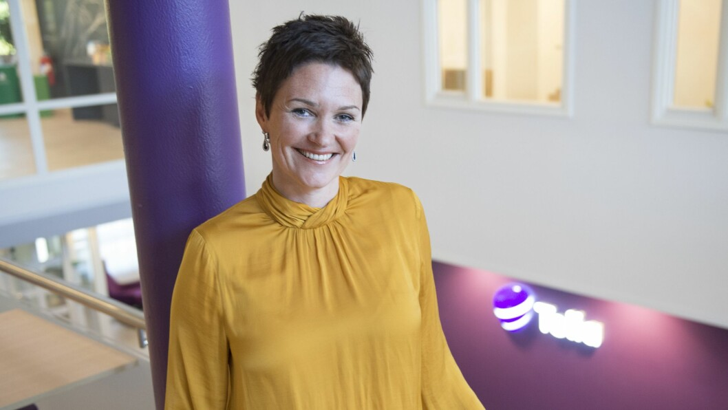 Kjersti Jamne, leder for privatmarkedet i Telia Norge, kommer med ny tjeneste. Foto: Telia